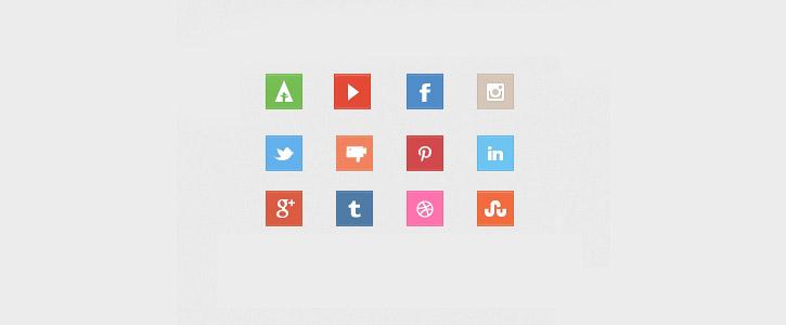 Social Media Icons by Alex Banaga