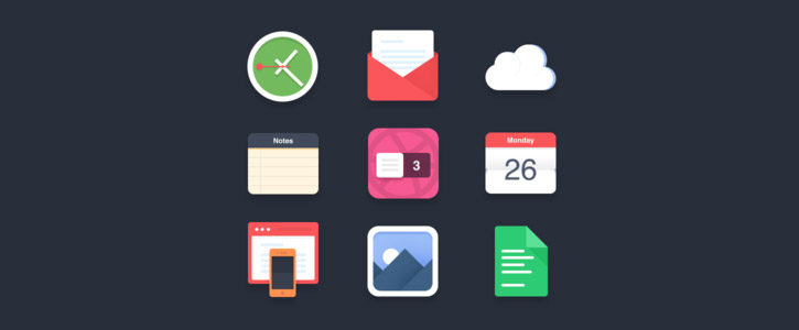 Flat Icons by Pierre Borodin