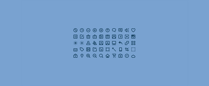 50 Mini Icons by PremiumPixels