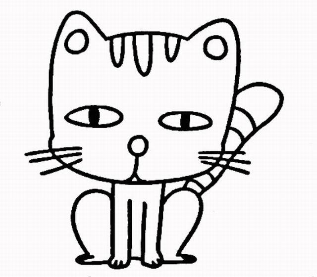 如何画小猫简笔画四