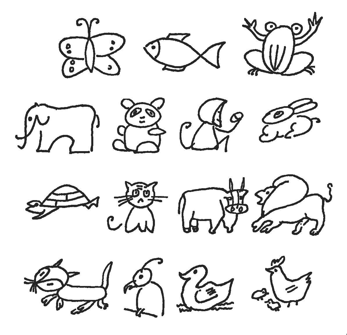 儿童简笔画大全:动物简笔画