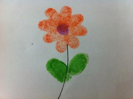 小小创意指纹画