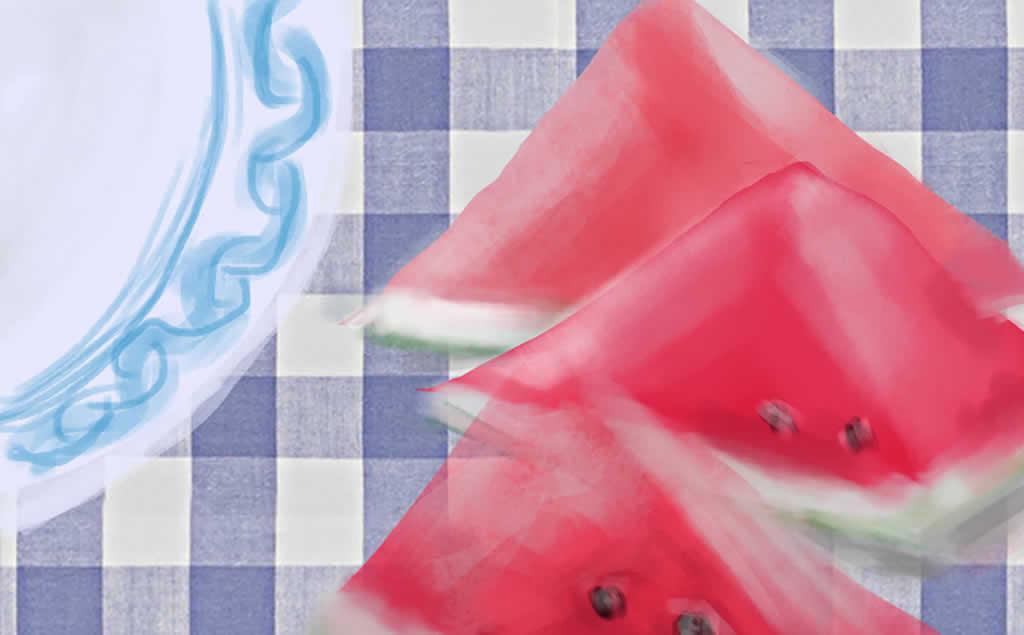 夏天只有吃西瓜才是正事