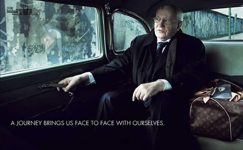 「旅行的意义」LV安静画面配着富有哲理的广告词
